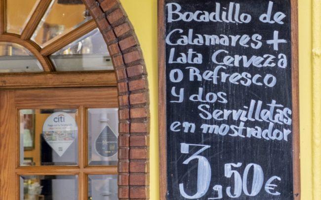 Madrid, Bocadillo de Calamares
