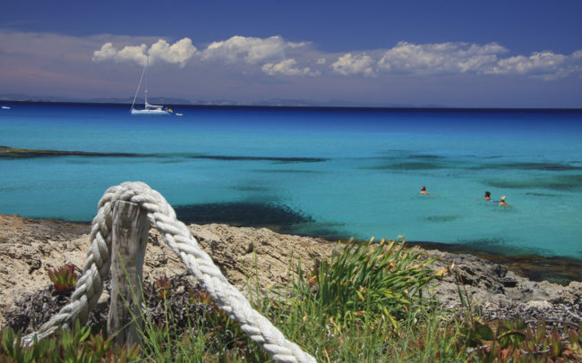 Formentera, view of Ibiza