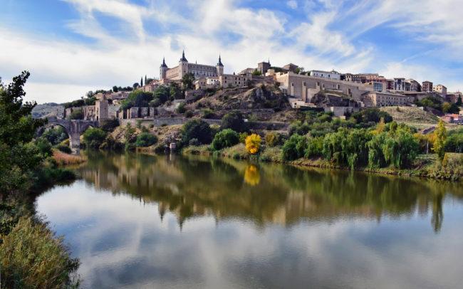 Toledo and Tajo river view